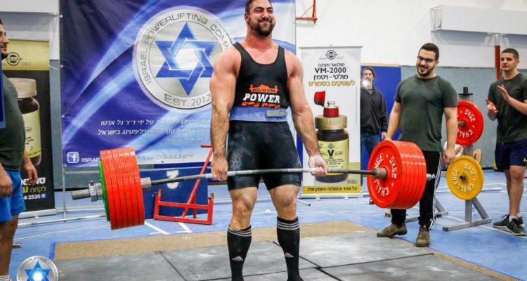 אושר סופטי באליפות ישראל בפאוורליפטינג