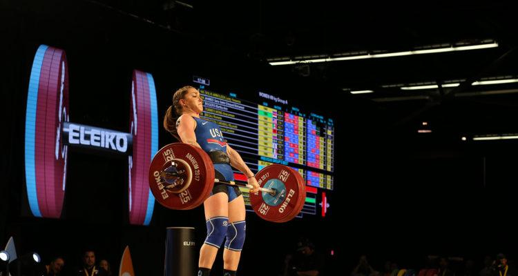 Mattie Rogers @ The World's Weihgtlifting Championships in ANaheim, 2017